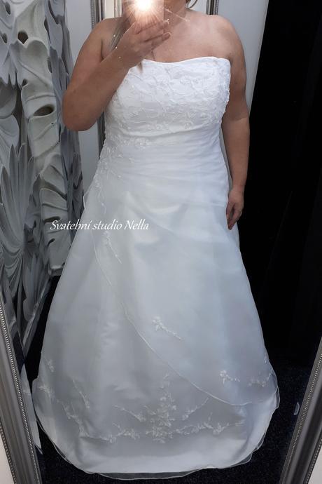 Svatební šaty s výšivkou vel.54, 54