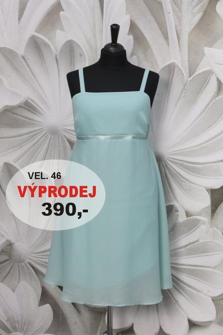 Výprodej - krátké šaty mentolové, 46
