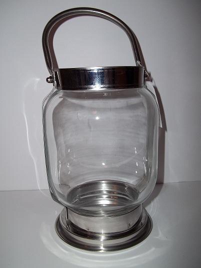 Lucerna sklo + kov,