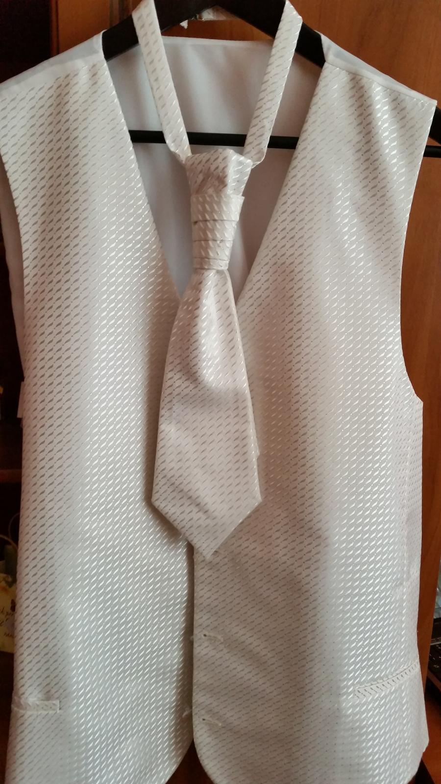 e338c7f17 Svadobna vesta +kravata+vreckovka pre zenicha, 58 - 25 € | Svadobný bazár |  Mojasvadba.sk