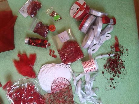 Svatební dekorace- červená,