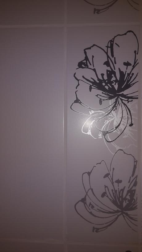 Midian bianco dekor Kvet A 20x60 cm,