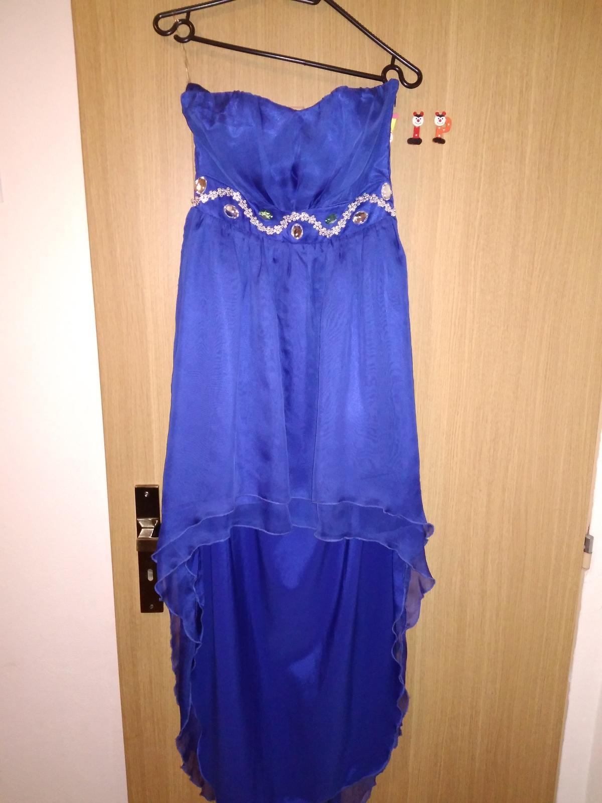 Modré spoločenské šaty 7e2edd66ca2