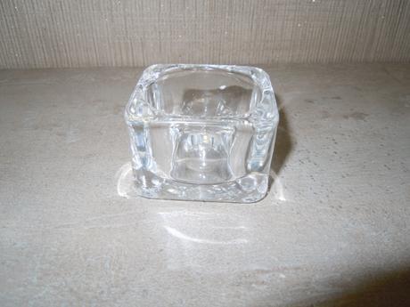 čtverhranné svícny na čajovou svíčku (5 ks),