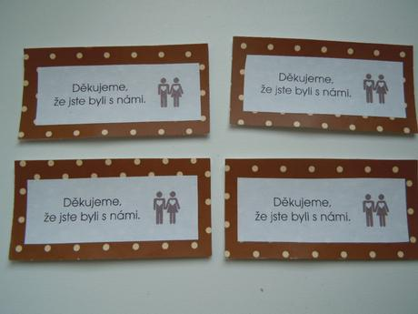 """kartičky """"děkujeme"""" (50 ks),"""