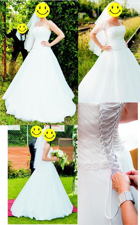 Svatební šaty na výšku cca 170 cm (Madora Mikulov), 38