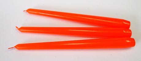 Kónická sviečka oranžová 25cm,