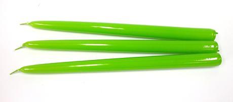 Kónická sviečka zelené jablko 30cm,