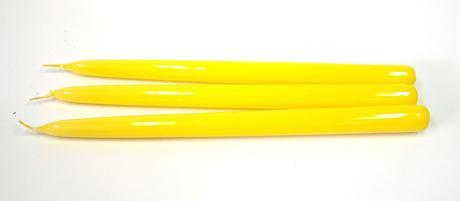 Kónická sviečka žltá 30cm,