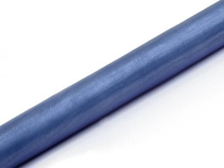 Organza modrá hmlistá 36cm,