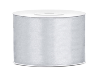 Saténová stuha biela 50mm,