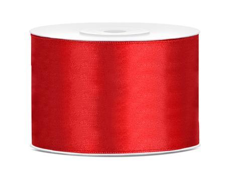 Saténová stuha červená 50mm,