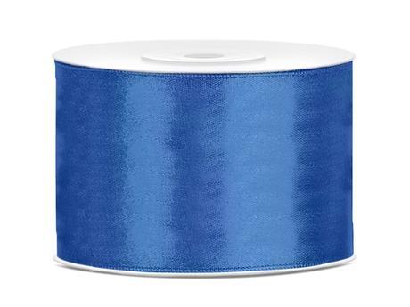 Saténová stuha kráľovská modrá 50mm,