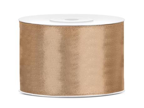 Saténová stuha zlatá svetlá 50mm,