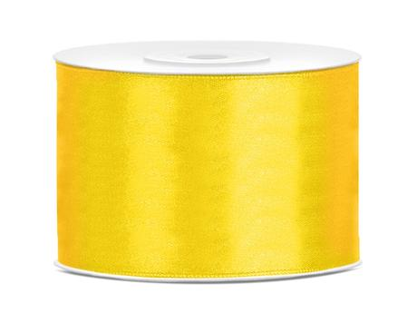 Saténová stuha žltá 50mm,