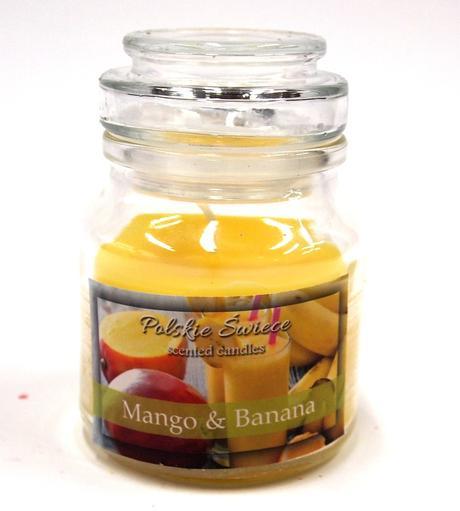 Sviečka mango a banán - aromatická,
