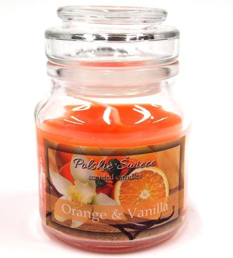 Sviečka pomaranč a vanilka - aromatická,