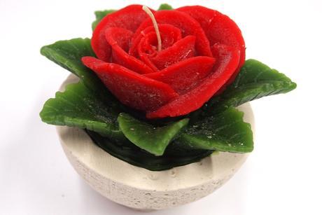 Sviečka ruža červená,