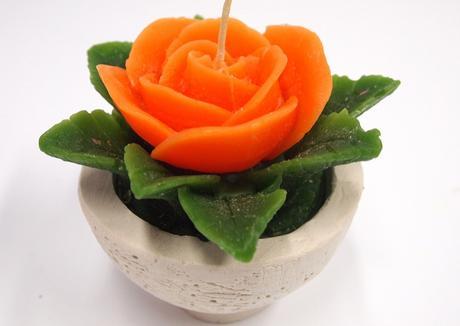 Sviečka ruža oranžová,