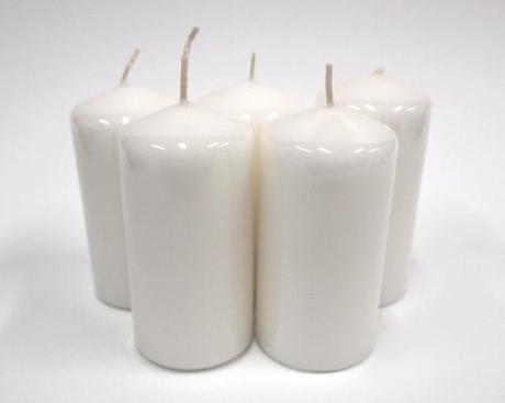 Sviečka valec biely ,