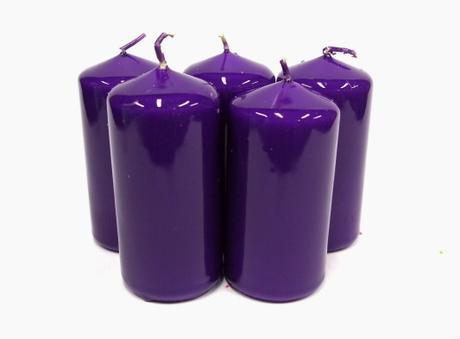 Sviečka valec fialový,