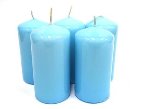 Sviečka valec modrý,