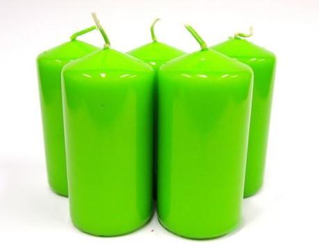 Sviečka valec zelené jablko,