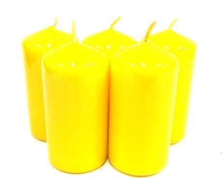 Sviečka valec žltý,