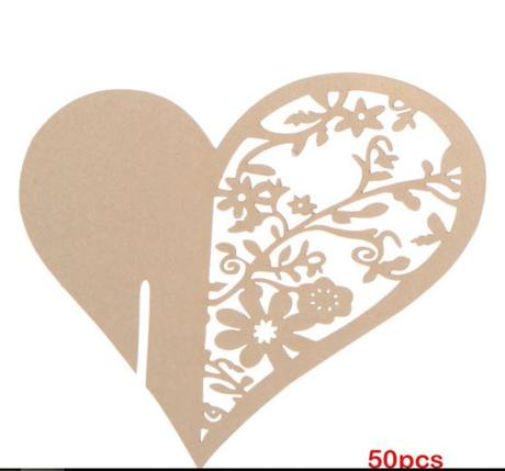 Jmenovky na skleničky srdce - SLEVA,