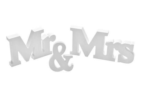 Písmena Mr & Mrs - SLEVA,