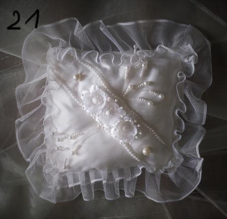 Polštářky na snubní prstýnky - výprodej,