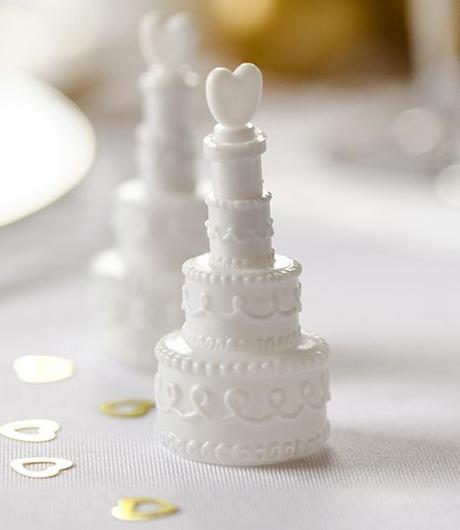 Svatební bublifuk - dort se srdíčkem,