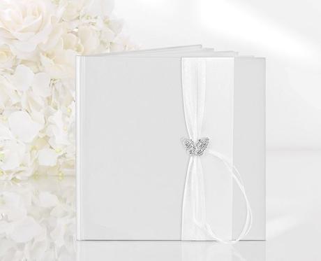 Svatební kniha hostů - motýlek,