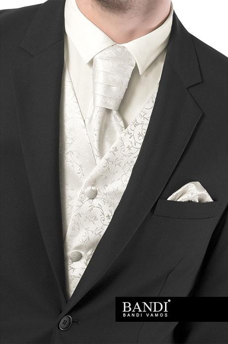 Svatební vesta s regatou a kapesníčkem, 52