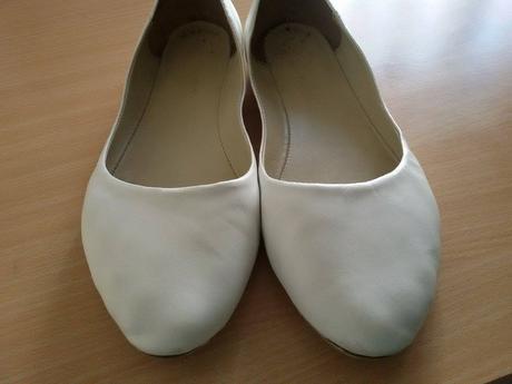Kožené biele topánky, 40