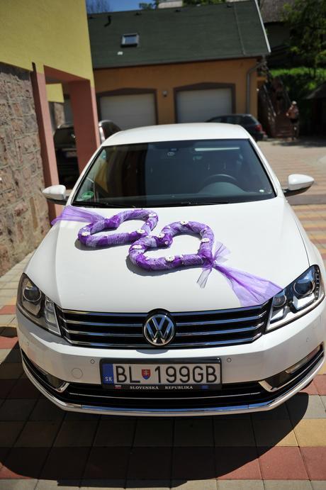 dekoracia na svadobne auto,