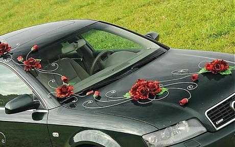 Luxusná svadobná výzdoba na aut,