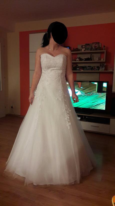 Svatební šaty, spodnička, závoj, 38