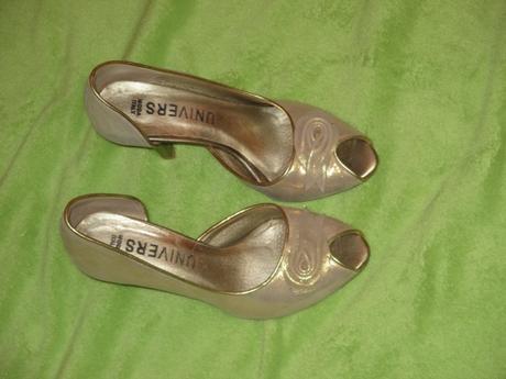 kožené zlaté topánočky Univers, 36