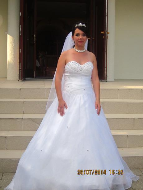 Svadobné šaty s vlečkou 38 - 42, 38