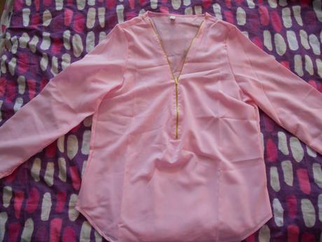 ruzova bluzka, L