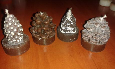Dekoračné vianočné čajové sviečky,