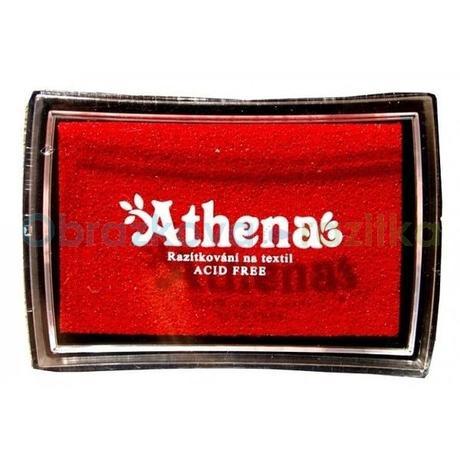 Razítkovací polštářek na textil červená,