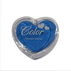 Razítkovací polštářek srdíčko modrá,