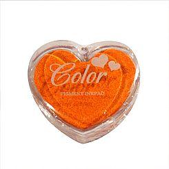 Razítkovací polštářek srdíčko oranžová,