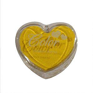 Razítkovací polštářek srdíčko žlutá,
