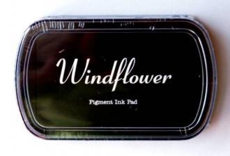 Razítkovací polštářek Windflower černá,