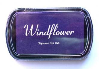 Razítkovací polštářek Windflower fialová,