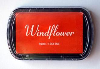 Razítkovací polštářek Windflower oranžová,