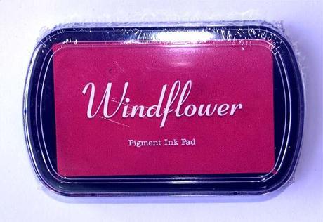Razítkovací polštářek Windflower růžová,